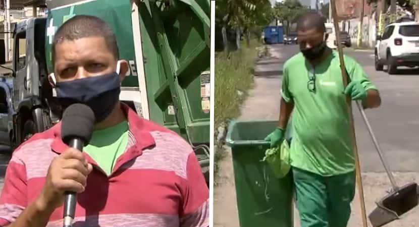 Catador muda de vida depois de achar um uniforme no lixo O sonho dele se realizou