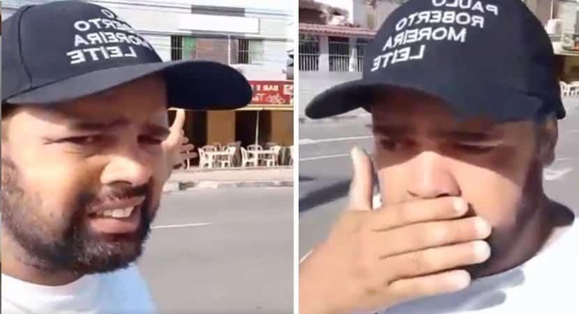 Homem se emociona ao ver família comendo sobras no lixo e oferece refeições grátis para pessoas carentes