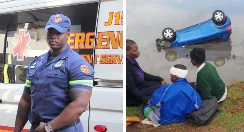 capabombeiro fora de serviço se lança na água para salvar família de 3 pessoas que se afogava em carro
