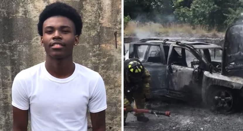 capajovem de 18 anos salva família inteira de incêndio dentro de carro Um herói