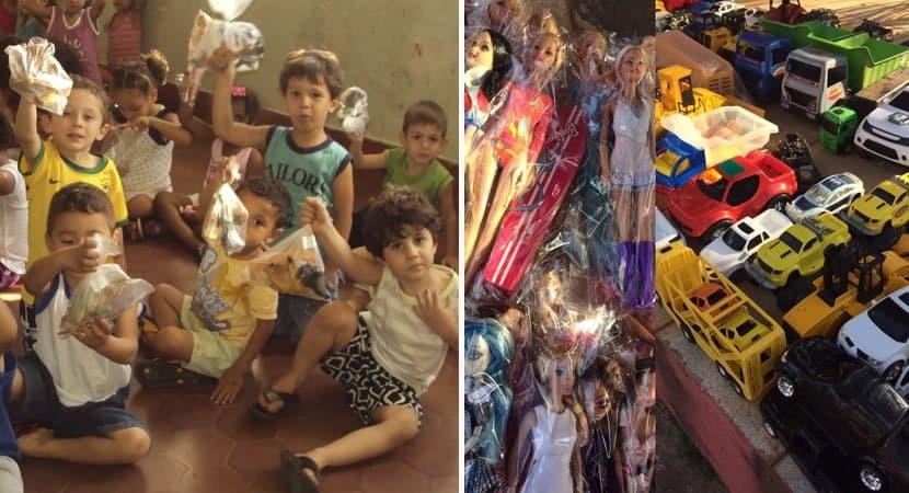capaoficina conserta brinquedos antigos e doa para crianças carentes no Natal