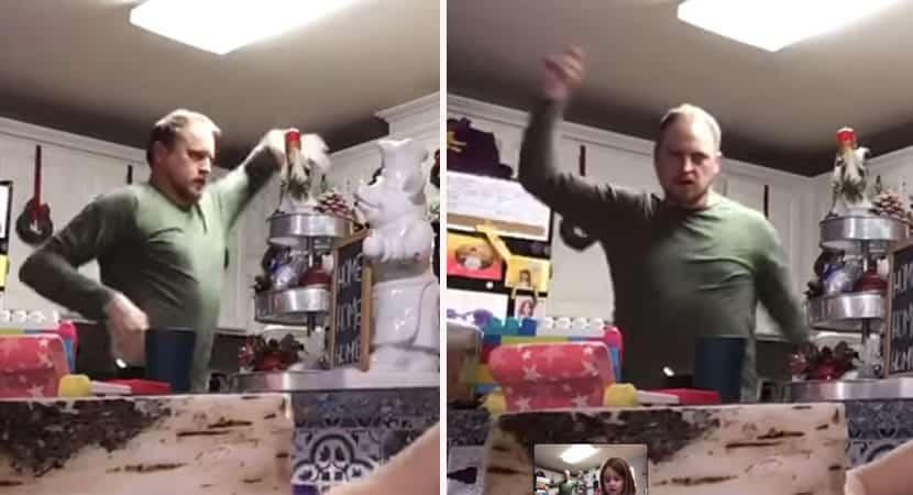 capapai faz dancinha por engano para filha durante apresentação de trabalho e viraliza