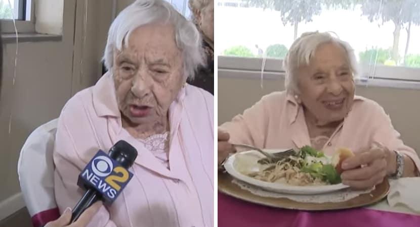 idosa de 107 anos acredita que o segredo para a longevidade é não se casar