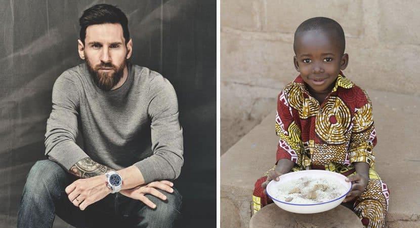 messi fornece café da manhã todos os dias a 15 mil crianças de Moçambique