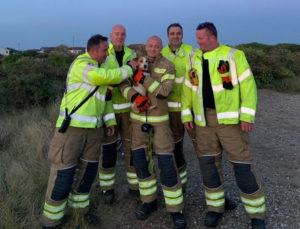2após 12 horas de angústia e medo cão preso em buraco de terra é heroicamente resgatado