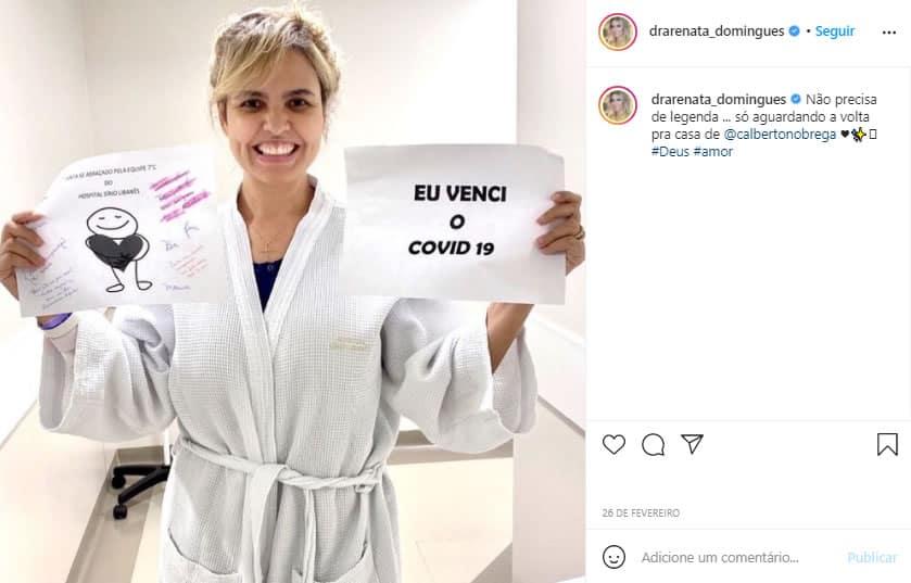 3carlos Alberto de Nobrega se cura da Covid 19 e recebe alta de hospital