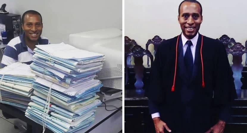 CAPA Homem que era faxineiro no Forum em MG se forma em Direito e hoje trabalha na Procuradoria
