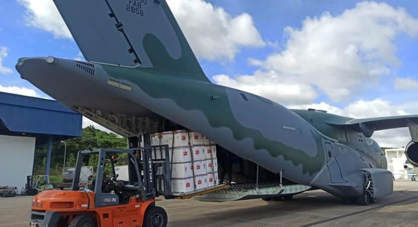 capaavioes da Forca Aerea farao o transporte das vacinas contra Covid 19 para 11 capitais brasileiras