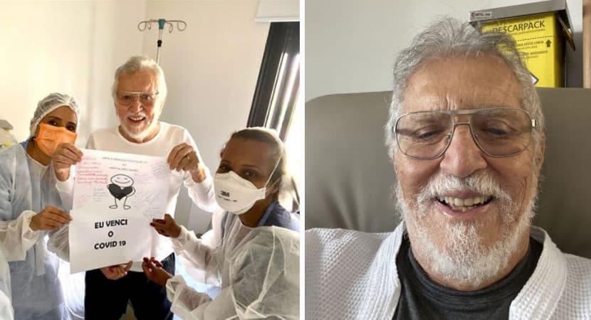 capacarlos Alberto de Nobrega se cura da Covid 19 e recebe alta de hospital