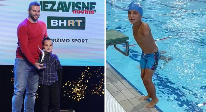 capamenino de 10 anos que nasceu sem os bracos se supera na natacao e ganha titulo de atleta do ano