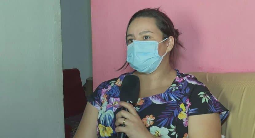 gravida que protegeu filho de tiro com o proprio corpo durante assalto e internada em UTI com Covid 19