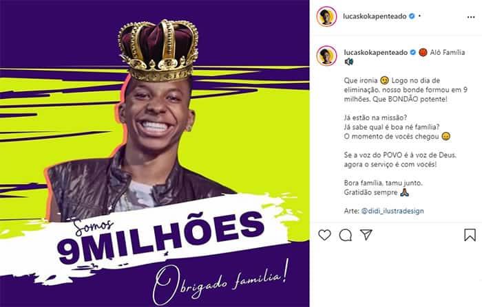 2 Lucas Penteado do BBB 21 alcanca 9 milhoes de seguidores no Instagram