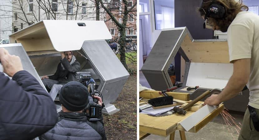 2pessoas se unem e constroem casas termicas para moradores de rua nao passarem frio