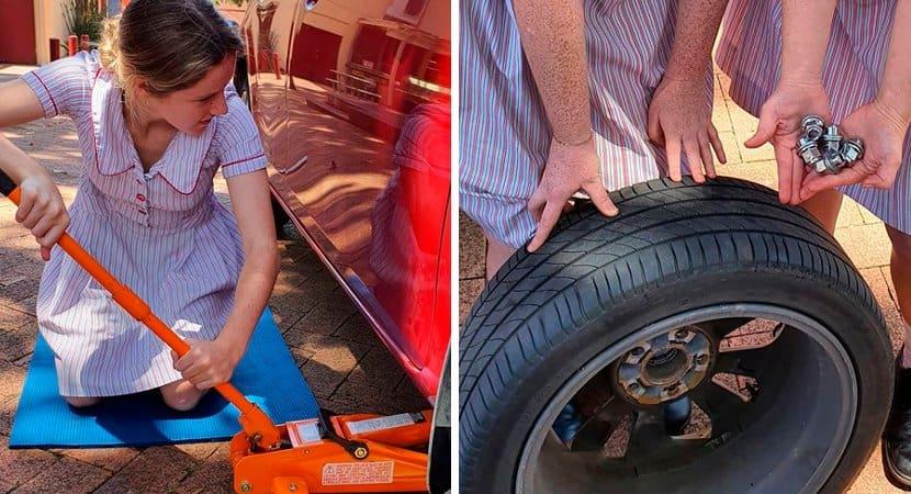 CAPA Meninas aprendem ainda na escola a cuidar da manutencao basica de carros na Australia