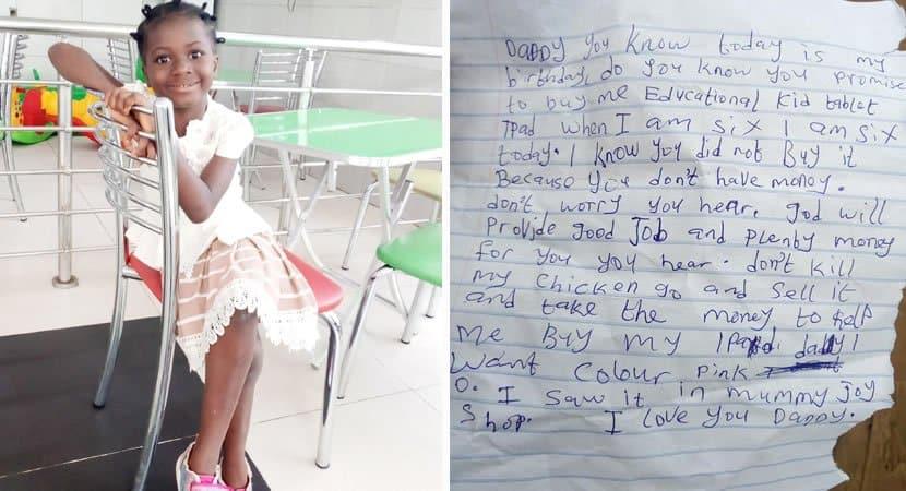 capadeus provera filha escreve carta emocionante para pai sem dinheiro para presentea la em seu aniversario