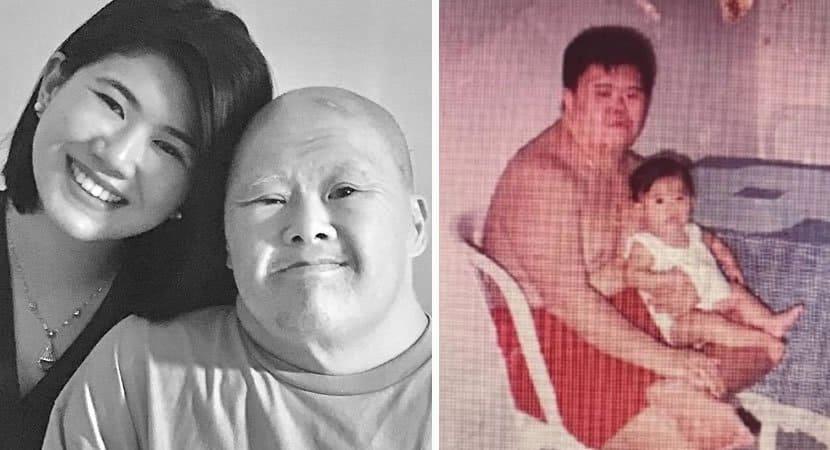capafilha presta linda homenagem ao pai com sindrome de Down que a criou Sou tao abencoada