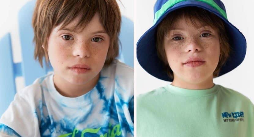 capazara coloca pela primeira vez menino Sindrome de Down como modelo Representatividade e respeito