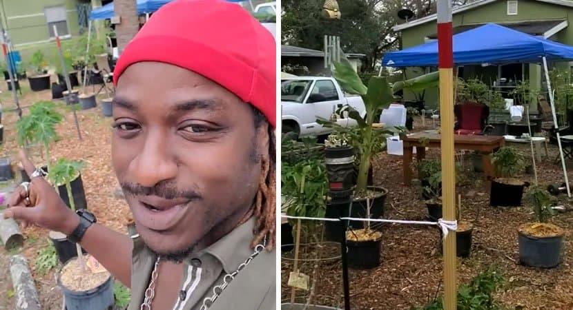 homem usa ajuda do governo para criar horta e ajudar a alimentar sua comunidade Coracao de ouro