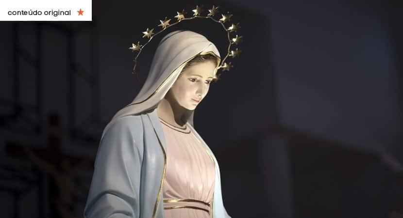 o manto de Nossa Senhora sera o seu escudo e te protegera contra todo o mal Creia