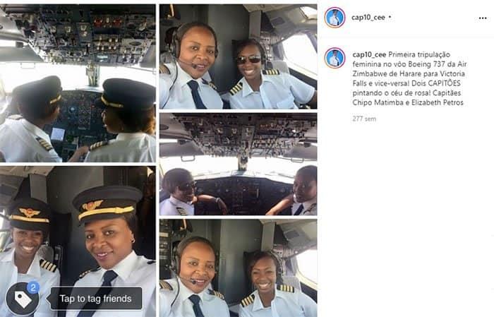 1 4 Pintando o ceu de rosa mulheres se tornam as primeiras a pilotar um Boeing 737 na historia 1