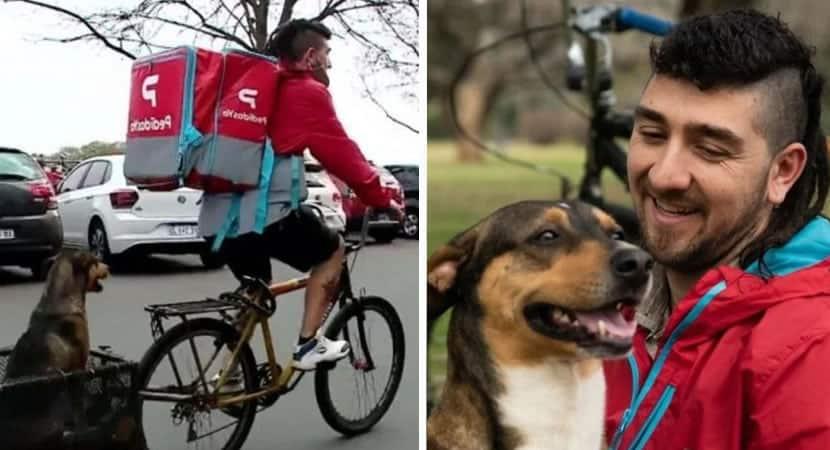 1 capa Entregador adaptou bicicleta para levar seu caozinho a todos os lugares Um grande companheiro