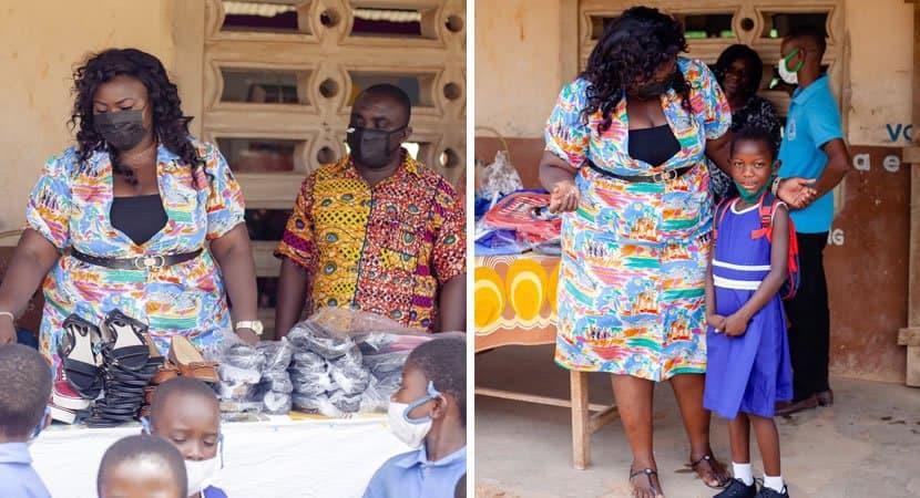 2professora compra materiais escolares sapatos e roupas para os alunos segunda mae