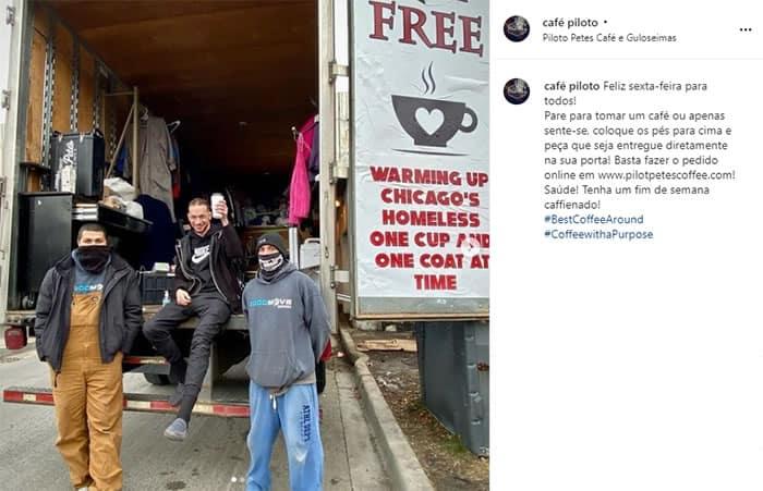 3 2 Empresario doa mais de 6 mil cafes e casacos a moradores de rua Tratamos todos iguais