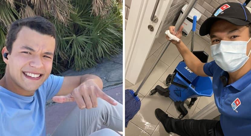 capajovem posta foto limpando banheiro de trabalho Nao se envergonhe de nada