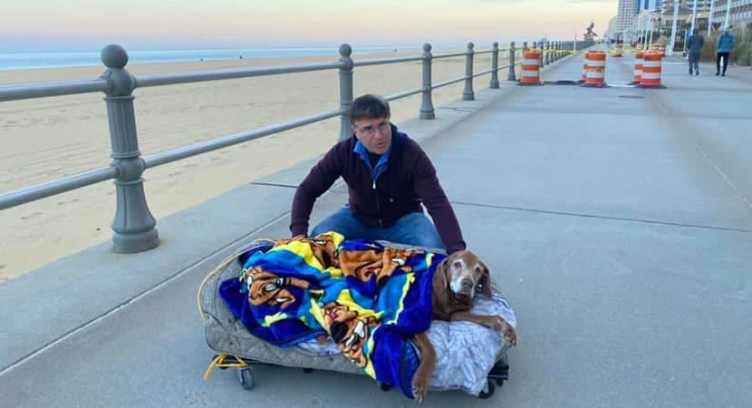 1 capa Casal constroi cama especial para cadelinha idosa ver o mar pela ultima vez Despedida emocionante