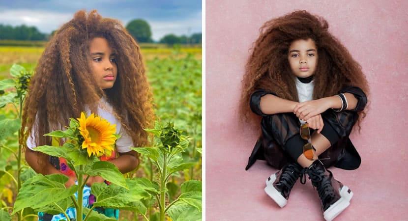 1 capa Mae mostra o poder dos cabelos longos e crespos de filho de 9 anos e celebra ancestralidade africana