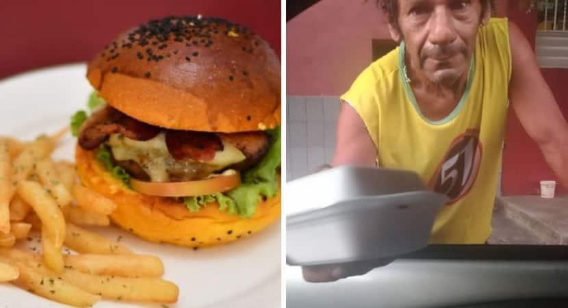 2 capa Apos pedido falso hamburgueria distribui lanches para moradores de rua Retribuir o mal com o bem