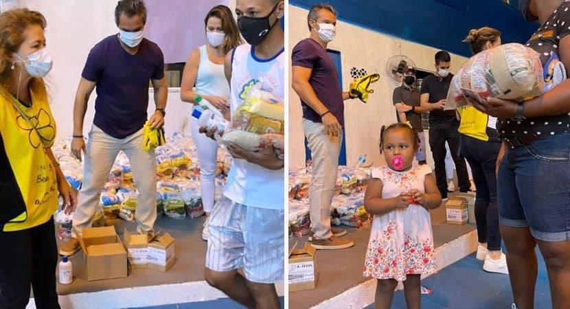 2homem que cresceu na favela da Rocinha doa mil cestas basicas a comunidade