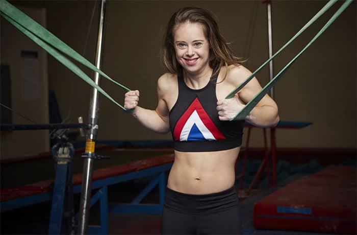 3 3 Ginasta olimpica e modelo jovem com Sindrome de Down inspira todos a correr atras dos seus sonhos