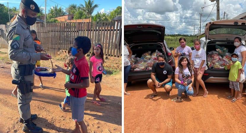 3 capa O mundo precisa de uniao policial militar ajuda pessoas carentes distribuindo marmitas e cestas basicas