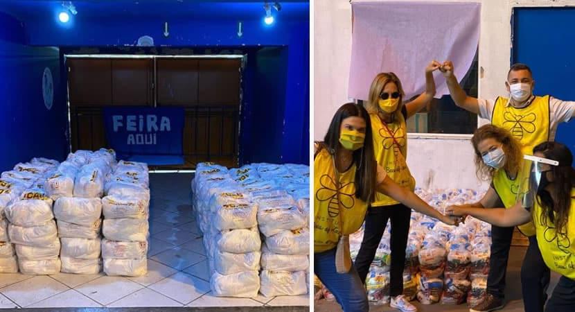 3homem que cresceu na favela da Rocinha doa mil cestas basicas a comunidade