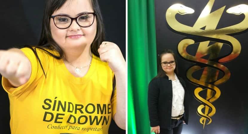 3nos somos capazes de tudo diz primeira vereadora com sindrome de Down do pais