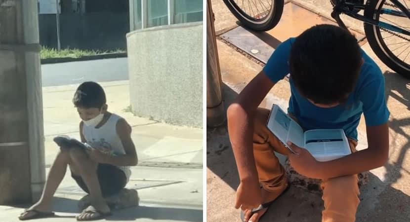6 capa Menino que vendia balas no sinal e lia Biblia no chao recebe doacoes e tem a vida transformada