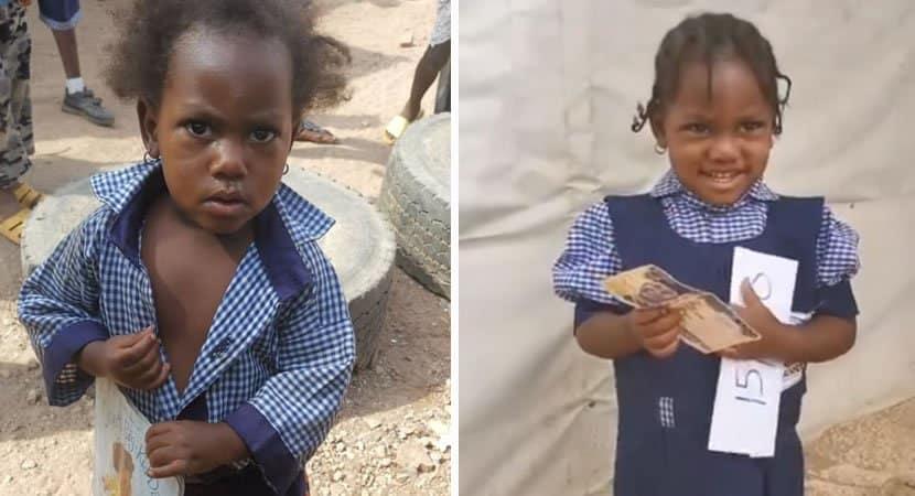 capaescola matricula menina que aparecia todos os dias em seu portao Deram na uma oportunidade