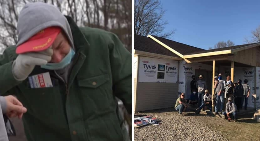 capajovens se unem e constroem casa para idoso que vivia sem agua e energia Exemplo de generosidade