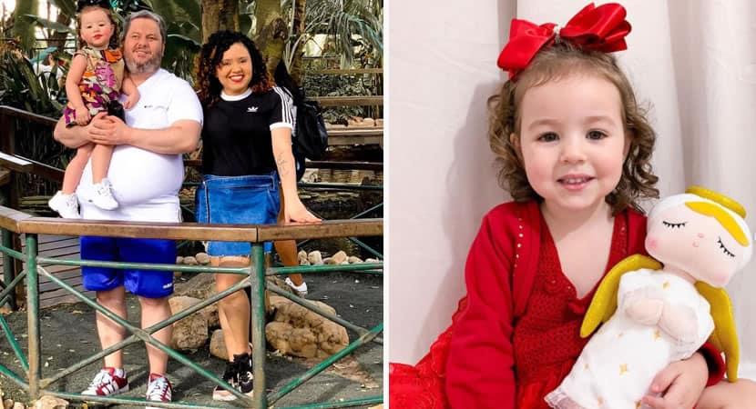 capamenina de 2 anos ajuda os pais deficientes visuais a caminhar e viraliza Ela e os nossos olhos