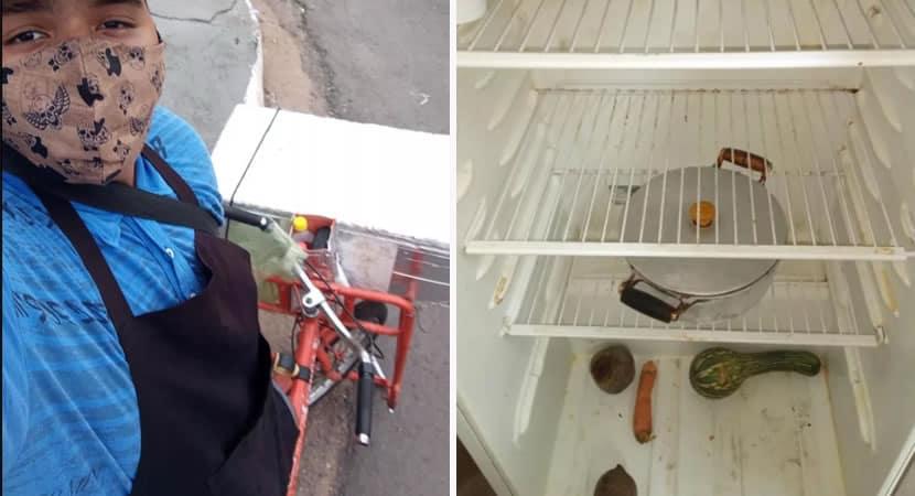 capamenino de 14 anos que mora com os avos vende salgados para ajudar a alimentar a familia