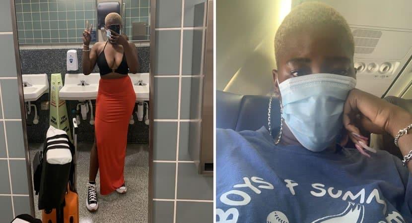 mulher e forcada a vestir blusa larga durante voo porque consideraram seu decote obsceno e ofensivo