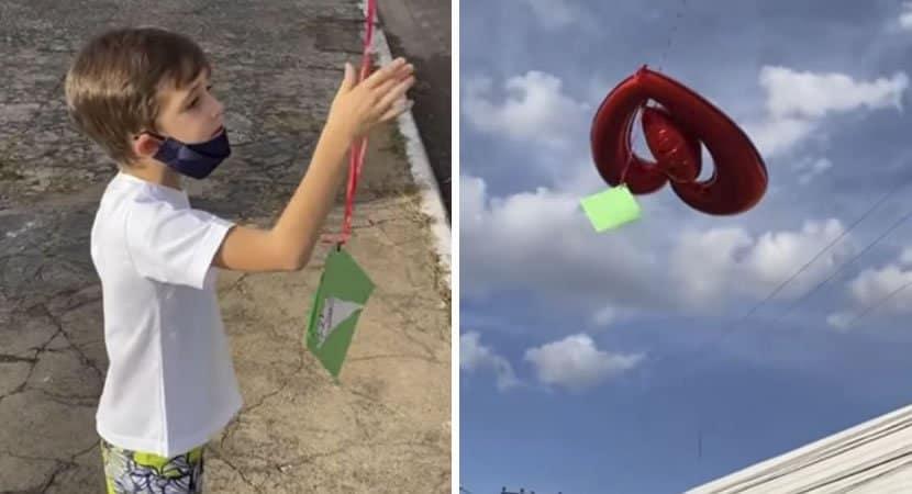 2 Com saudades da mae que faleceu de cancer menino pede ao pai para mandar uma carta para o ceu