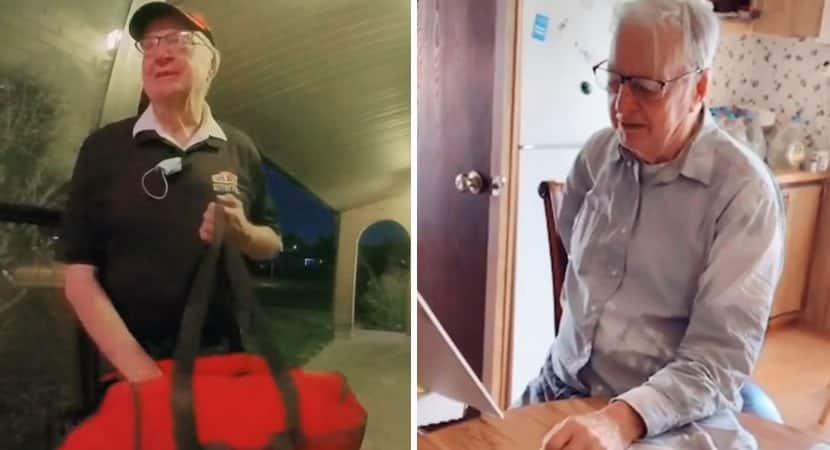 2 capa Entregador de pizza de 89 anos que passava necessidade recebe gorjeta dos clientes de mais de 65 mil