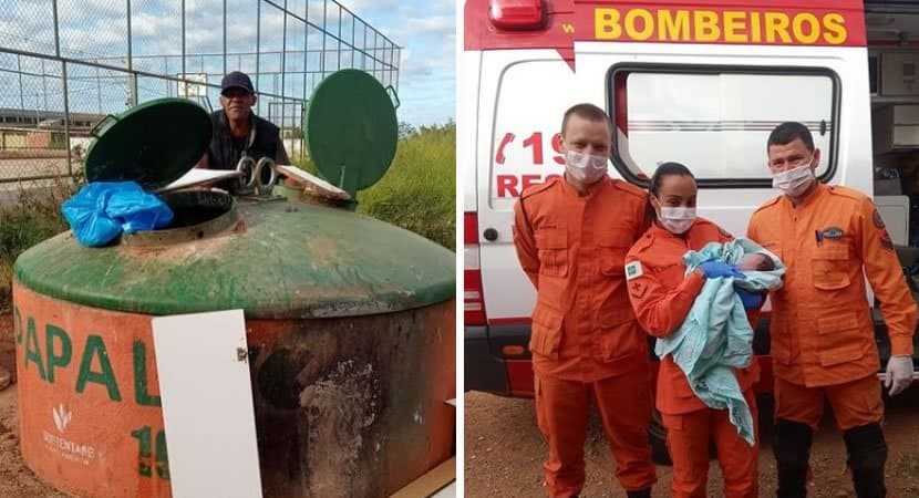 2bombeiro heroi salva vida de recem nascido abandonado em conteiner de