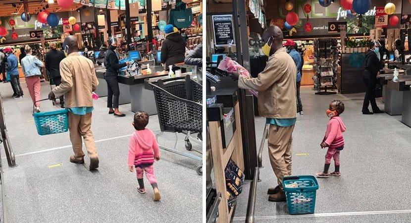 2homem deixa dinheiro no bolso de pai para ajuda lo a comprar boneca para a sua filha