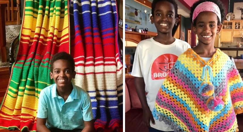 2menino de 13 anos arrecada dinheiro com venda de croche e constroi biblioteca na Etiopia