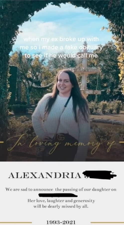 2mulher fingiu o proprio funeral para ver se ex a ligaria Ela fez ate um obituario falso