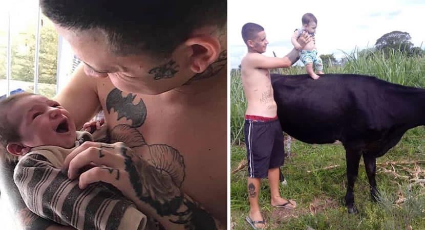 3homem assume a paternidade de filho da namorada abandonada gravida Sao uma familia