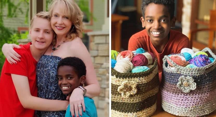 3menino de 13 anos arrecada dinheiro com venda de croche e constroi biblioteca na Etiopia